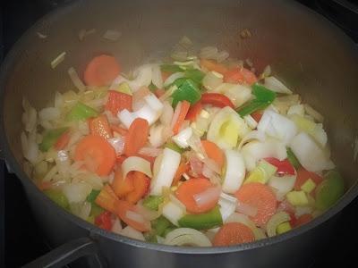 Cinta de lomo en salsa de verduras