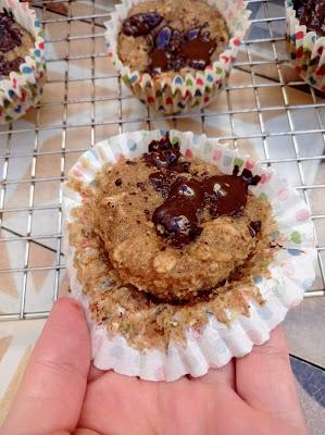 Muffins de fruta integrales - Veganos & Sin azúcar