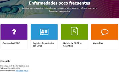 Página web sobre Enfermedades Poco Frecuentes (EPOF)
