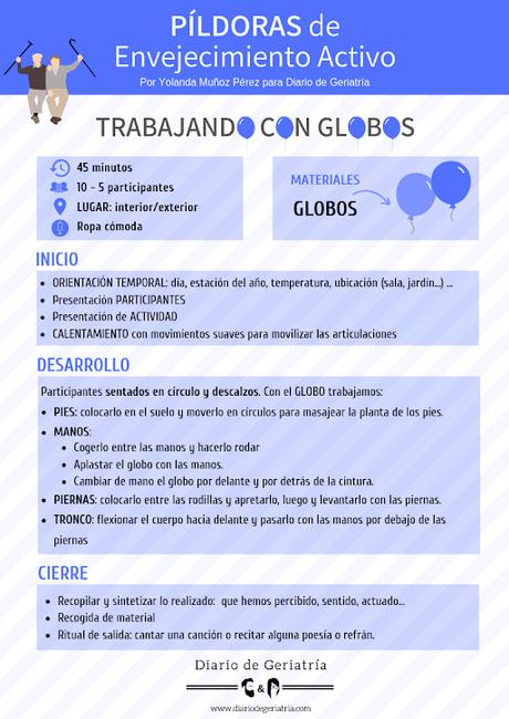 #PíldorasdeEnvejecimientoActivo: Trabajando con Globos.