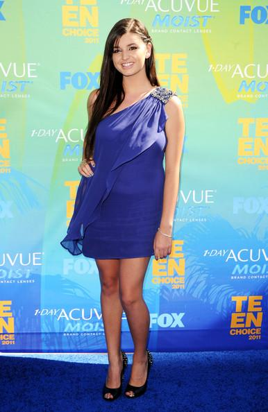 Singer Rebecca Black arrives at the 2011 Teen Choice Awards held at the Gibson Amphitheatre on August 7, 2011 in Universal City, California.