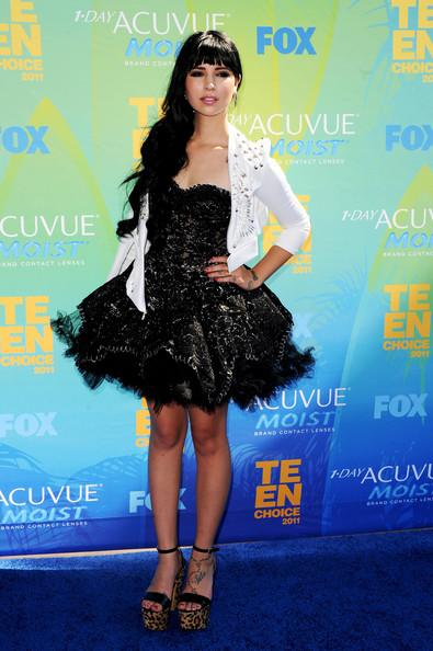 Hanna Beth Merjos arrives at the 2011 Teen Choice Awards held at the Gibson Amphitheatre on August 7, 2011 in Universal City, California.