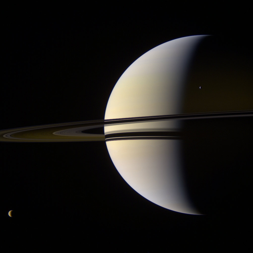 planet saturn moons - 736×736