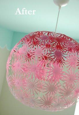 Ikea hack l mpara maskros en rosa paperblog - Lampara bola ikea ...