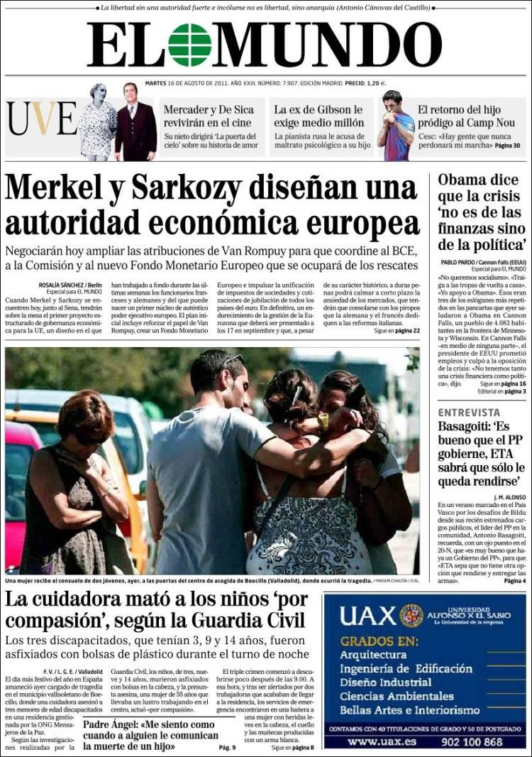 Diario El mundo 16 Agosto 2011