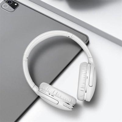 Baseus D02 Pro Auriculares Bluetooth Inalámbricos de Bluetooth 5.0 Manos Libres en Cabeza Inalámbrica Montado en Teléfono Móvil Juego de Música Reducción de Ruido 10