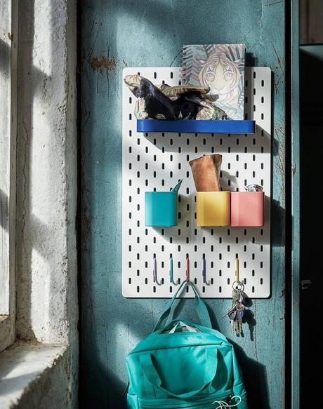 Las mejores ideas con el tablero perforado SKÅDIS de IKEA