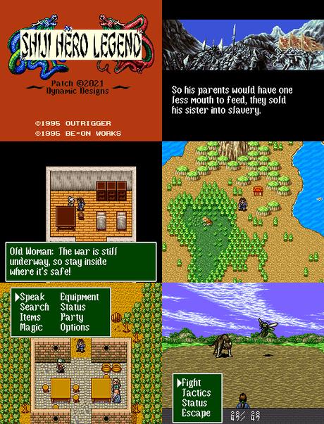 Shiki Eiyuuden de Super Nintendo traducido al inglés