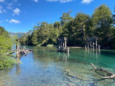 Lago Espejo Chico  y Río Ruca Malen (un viaje en tiempo real)