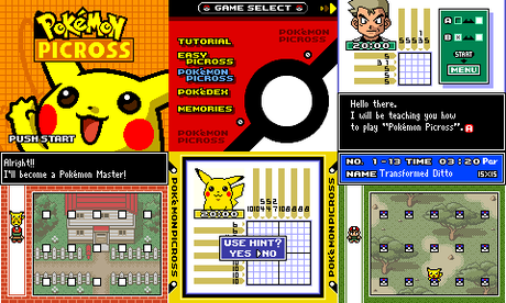 Pokémon Picross de Game Boy Color traducido al inglés