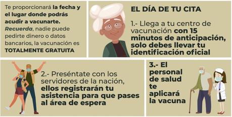 Pasos para ser vacunado contra el COVID-19 en México