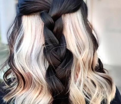 Trending topic: contrast hair.