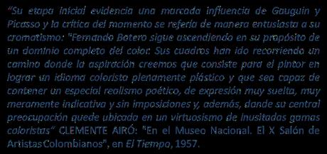 FERNANDO BOTERO I: VOLUMEN, COLOR Y LUZ