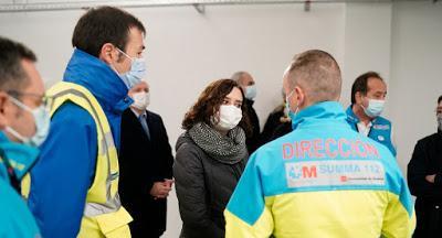 """La """"oscura, irregular e irresponsable"""" gestión de la pandemia por parte del Gobierno de Isabel Díaz-Ayuso."""