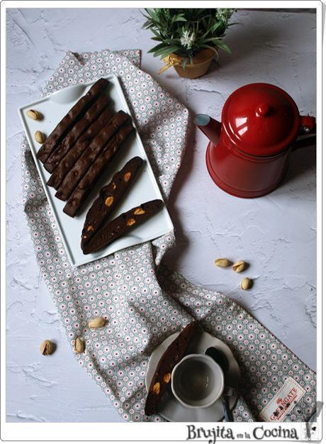 Biscotti de chcocolate y pistacho