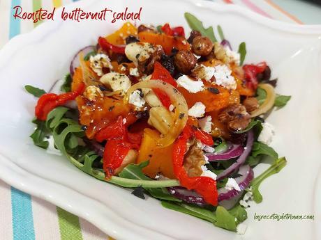 Roasted butternut salad (Ensalada de calabaza)