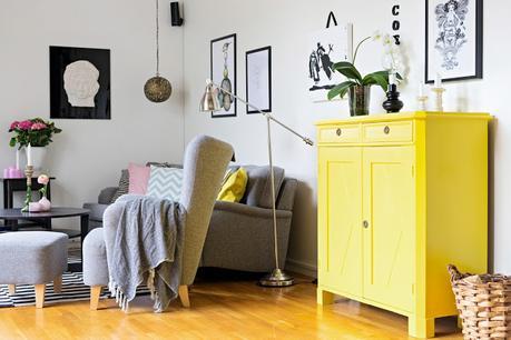Decoración en Amarillo Brillante y Gris, los colores del 2021