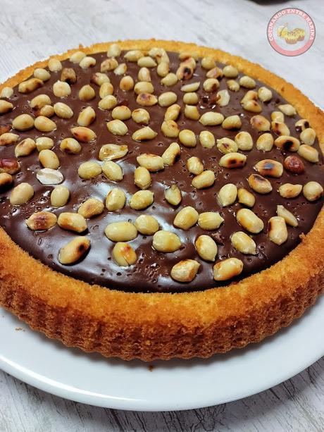 TARTA DE CHOCOLATE Y CACAHUETES, SIN LÁCTEOS