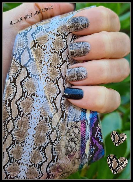 Manicura de serpiente con foil de Born Pretty Store