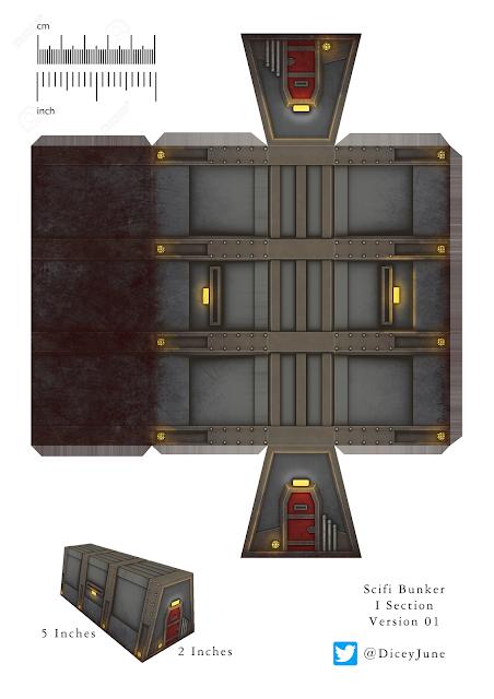 Bunker de papercraft de Dicey June
