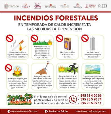 PRESENTAN EN TEXCOCO EL PLAN INTERMUNICIPAL DE CONTINGENCIA CONTRA INCENDIOS 2021 (PICCI 2021)