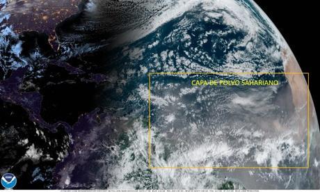 Nueva irrupción de polvo del desierto del Sahara llegará desde hoy al Caribe, incluyendo a Venezuela