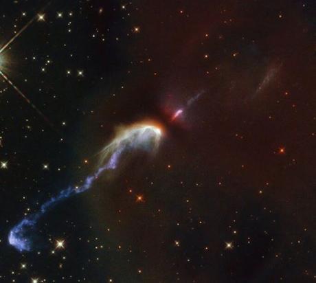 Los objetos de Herbig-Haro:  chorros de materia que flotan entre el gas y las estrellas