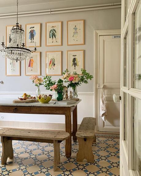 Una casa de estilo francés.