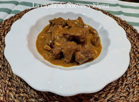 Ternera al curry de mandarina