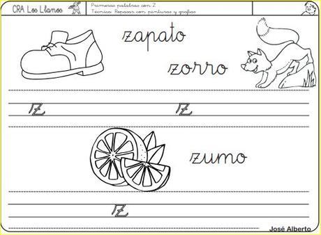 Aprendo a leer y a escribir. La Z