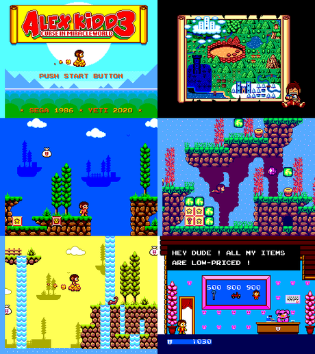 [ROM hack] Alex Kidd 3 – Curse in Miracle World (Sega Master System)