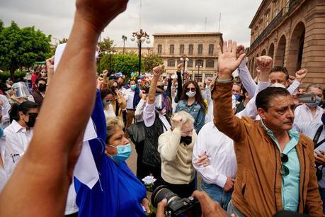 Marchan para pedir justicia por Julio Galindo Pérez