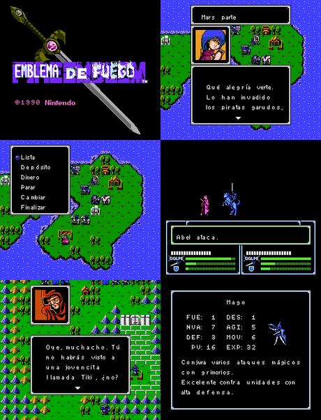 Fire Emblem: Ankoku Ryuu to Hikari no Tsurugi de Nintendo Famicom traducido al español