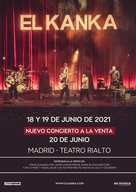 El Kanka: tres conciertos en el Teatro Rialto de Madrid