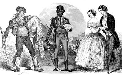 Recreación de Espatolino, Sab y Dos mujeres.
