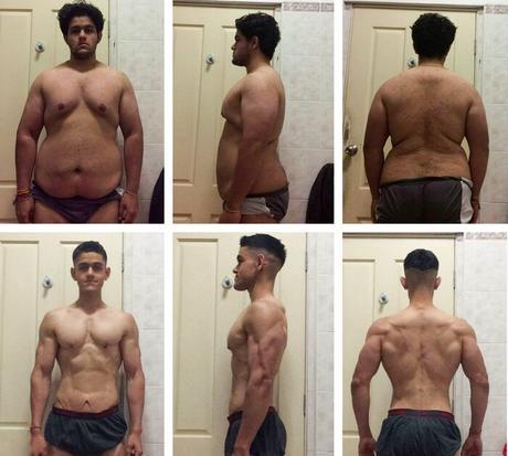 Progreso de la transformación de Ajay Sharmas