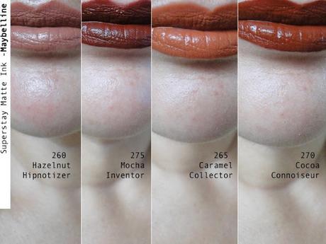 SuperStay de Maybelline, labios en tonos café.