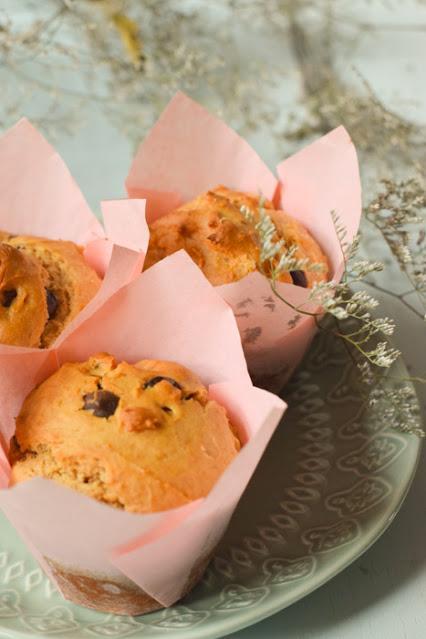 Muffins Veganos de Mantequilla de Cacahuete