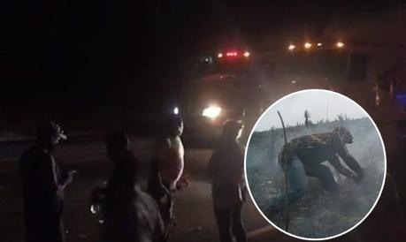 Bloquean Carretera 57 por falta de apoyos en combate a incendios
