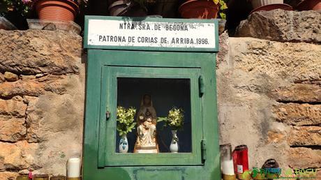 Imagen de Nuestra Señora de Begoña en Corias de Arriba