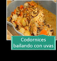 CODORNICES BAILANDO CON UVAS