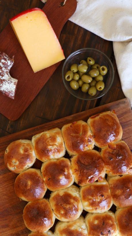 pancitos saborizados longaniza queso cebolla aceituna