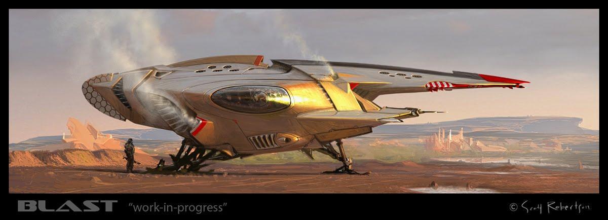 amazoncom blast spaceship sketches and renderings - HD3365×1246