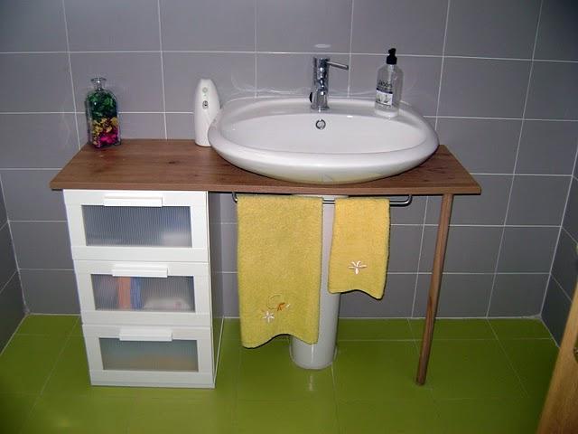 Ikea hack el mueble del ba o de yani paperblog - Como hacer un mueble de bano ...
