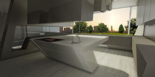 Proceso creativo de una cocina ubicada en una lujosa vivienda ...