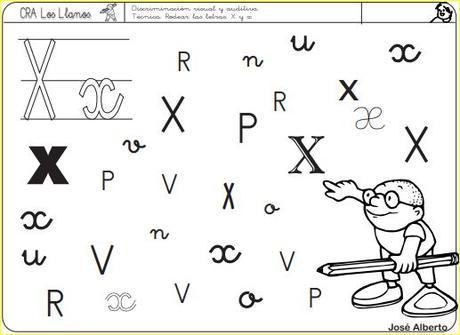 Aprendo a leer y a escribir. La X