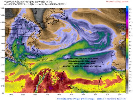 Semana lluviosa en Venezuela! Varias regiones del país tendrán acumulados pluviométricos importantes, atípicos para la época