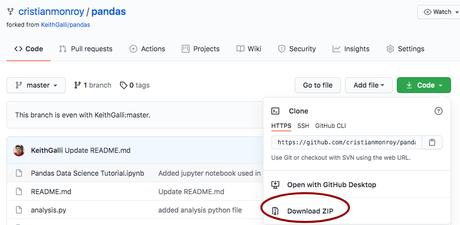 Descargar archivos de manera individual en GitHub