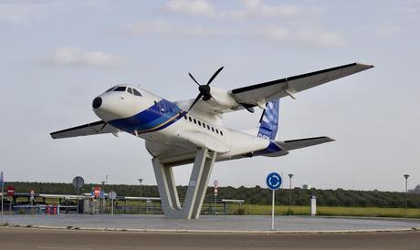 La rotonda del ITC Airbus Military en el aeropuerto.