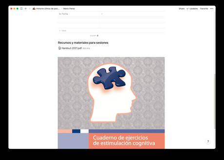 Plantilla para registrar las historias clínicas de psicoterapia en formato online